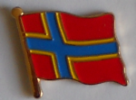 Orkney Islands Flag Enamel Pin Badge